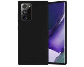 Husa Spate Mercury Silicone Samsung Galaxy Note 20 ,cu Interior Alcantara ,Negru