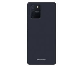 Husa Spate Mercury Silicone Samsung Galaxy Note 20 ,cu Interior Alcantara ,Navy Albastru