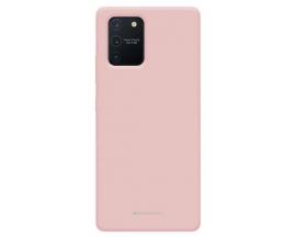 Husa Spate Mercury Silicone Samsung Galaxy Note 20 ,cu Interior Alcantara ,Roz Sand