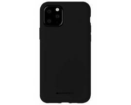 Husa Spate Mercury Silicone iPhone 11 Pro ,Cu Interior Alcantara ,Negru