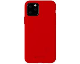 Husa Spate Mercury Silicone iPhone 11 Pro ,Cu Interior Alcantara ,Rosu