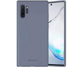 Husa Spate Mercury  Silicone Samsung Galaxy Note 10+ Plus ,Cu Interior Alcantara ,Lavander Gri