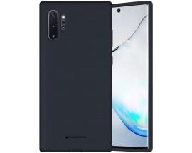 Husa Spate Mercury Silicone Samsung Galaxy Note 10+ Plus ,Cu Interior Alcantara ,Nacy Albastru