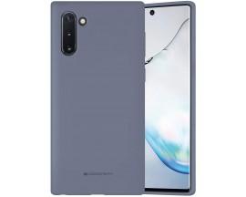Husa Spate Mercury  Silicone Samsung Galaxy Note 10 ,Cu Interior Alcantara ,Lavander Gri