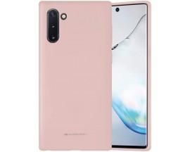 Husa Spate Mercury  Silicone Samsung Galaxy Note 10 ,Cu Interior Alcantara ,Roz Sand