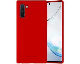 Husa Spate Mercury  Silicone Samsung Galaxy Note 10 ,Cu Interior Alcantara ,Rosu