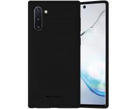 Husa Spate Mercury  Silicone Samsung Galaxy Note 10 ,Cu Interior Alcantara ,Negru