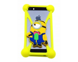 Husa Bumper Universala Silicon Jelly - model minion inghetata