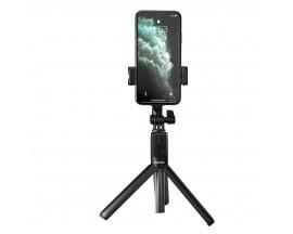 Selfie Stick Tripod Baseus, Telecomanda Wireless Si Suport De Telefon, Negru - SUDYZP-F01