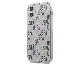 Husa Premium Originala Us Polo Assn iPhone 12 Mini ,Colectia Logo Mania ,Alb - USHCP12SPCUSPA6