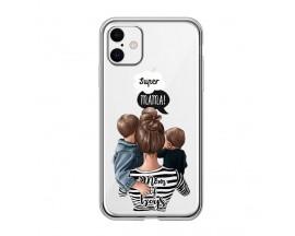 Husa Silicon Soft Upzz Print iPhone 11 Model Mom2