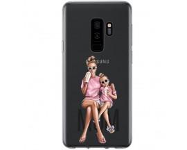 Husa Silicon Soft Upzz Print Samsung Galaxy S9 Plus Model Mom1