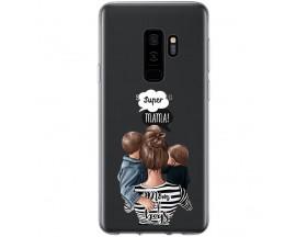 Husa Silicon Soft Upzz Print Samsung Galaxy S9 Plus Model Mom2
