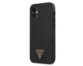 Husa Premium Originala Guess Compatibila Cu iPhone 12 Mini ,Colectia Saffiano Negru-GUHCP12SVSATMLBK