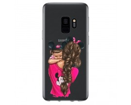 Husa Silicon Soft Upzz Print Samsung Galaxy S9 Model Mom4