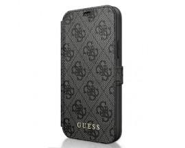 Husa Premium Originala Guess Tip Carte iPhone 12 Mini ,Colectia Charm , Gri - GUFLBKSP12S4GG