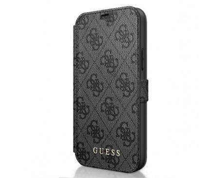 Husa Premium Originala Guess Tip Carte iPhone 12 Pro Max ,Colectia Charm , Gri - GUFLBKSP12L4GG