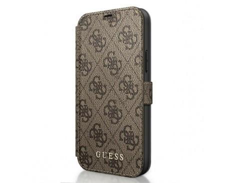 Husa Premium Originala Guess Tip Carte iPhone 12 Pro Max ,Colectia Charm , Maro- GUFLBKSP12L4GB
