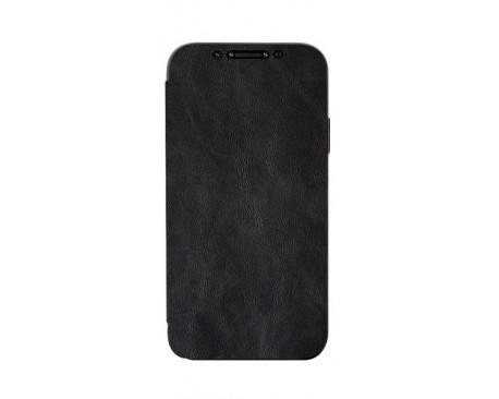 Husa Premium Flip Book Upzz Leather iPhone 12 Pro Max , Piele Ecologica, Negru