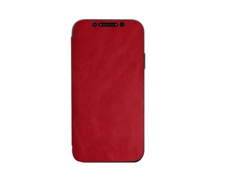 Husa Premium Flip Book Upzz Leather iPhone 12 Pro Max , Piele Ecologica, Rosu