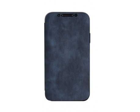 Husa Premium Flip Book Upzz Leather iPhone 12 Pro Max , Piele Ecologica, Blue