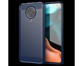 Husa Spate Upzz Carbon Compatibila Cu Xiaomi Poco F2 Pro , Albastru - Antishock