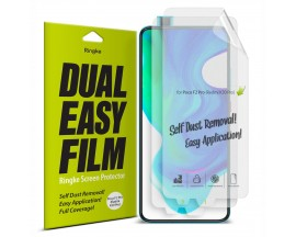 Folie Premium Full Cover Ringke Dual Easy Xiaomi Poco F2 Pro  ,transparenta -2 Bucati In Pachet
