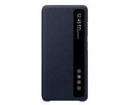 Husa Originala Clear View Pentru Samsung Galaxy S20 FE Cu Display Inteligent , Navy Albastru