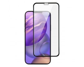 Folie Full Cover Premium X-one Extra Stong Pentru iPhone 12 Mini ,Transparenta Cu Margine Neagra