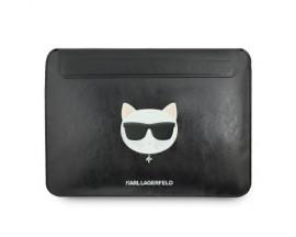 Husa Originala Karl Lagerfeld Compatibila Cu Macbook Pro / Air  13 Inch, Piele ,negru -KLCS133CHBK