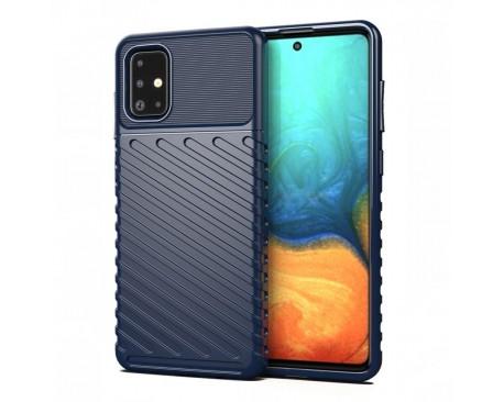 Husa Spate Upzz Thunder Case Antishock Samsung Galaxy A21s , Silicon , Albastru