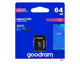 Card Microsd Goodram 64gb Clasa 10 Uhs i Z Cu Adaptor Sd