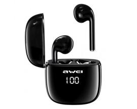 Casti Audio Wireless Awei ,versiune Bluetooth 5.0 ,carcasa Cu Functie De Incarcare ,negru- T28p