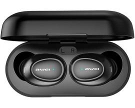 Casti Bluetooth Premium AWEI Bluetooth 5.0 T6 TWS , Cu Carcasa Functie De Incarcare ,Negru