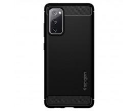 Husa Premium Originala Spigen Rugged Armor Samsung Galaxy S20 FE, Negru Silicon
