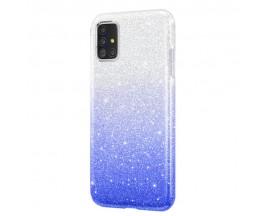 Husa Spate Upzz Shiny Lux Samsung Galaxy A51 , Silver Albastru