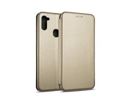 Husa Flip Carte Cu Magnet Lux Upzz Samsung Galaxy M11 , Rose Gold