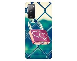 Husa Silicon Soft Upzz Print Samsung Galaxy S20 Fe Model Heart Lock