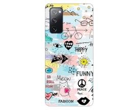 Husa Silicon Soft Upzz Print Samsung Galaxy S20 Fe Model Meow