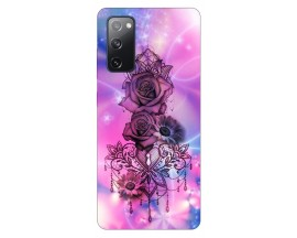 Husa Silicon Soft Upzz Print Samsung Galaxy S20 Fe Model Neon Rose