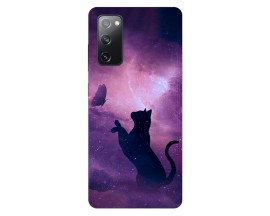 Husa Silicon Soft Upzz Print Samsung Galaxy S20 Fe Model Shadow Cat