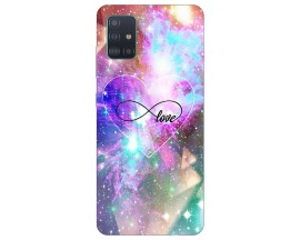 Husa Silicon Soft Upzz Print Samsung Galaxy M51 Model Neon Love