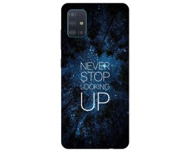 Husa Silicon Soft Upzz Print Samsung Galaxy M51 Model Never Stop