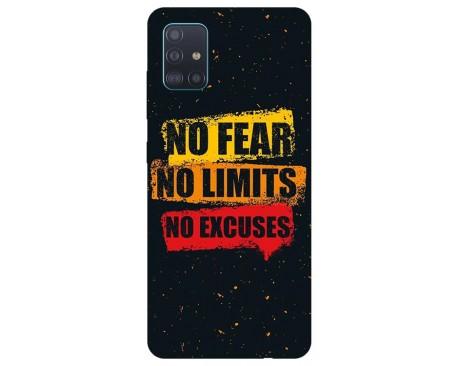 Husa Silicon Soft Upzz Print Samsung Galaxy M51 Model No Fear
