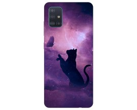 Husa Silicon Soft Upzz Print Samsung Galaxy M51 Model Shadow Cat