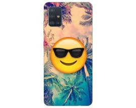 Husa Silicon Soft Upzz Print Samsung Galaxy M51 Model Smile