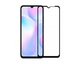 Folie Sticla Full Cover Full Glue Upzz Xiaomi Redmi 9A, Cu Adeziv Pe Toata Suprafata Foliei Neagra