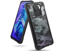 Husa Premium Ringke Fusion X Compatibila Cu Xiaomi Redmi Note 9 , Negru Camo