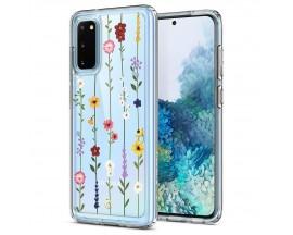 Husa Premium Spigen Ciel Pentru Samsung Galaxy S20 , Flower Garden