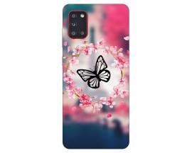 Husa Silicon Soft Upzz Print Samsung Galaxy A31 Model Butterfly